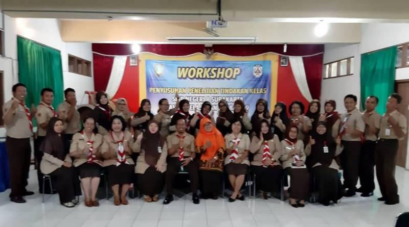 SMPN 8 Solo Gelar Workshop PTK Tahun Ajaran 2018 / 2019