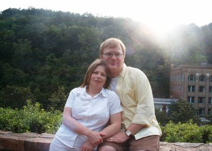 Jathan and Heather in Hot Springs