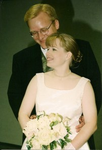 Jathan and Heather on their wedding day