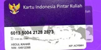 Pendaftaran Kartu Indonesia Pintar Kuliah