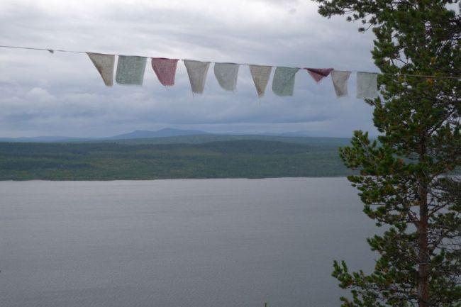 Böneflaggor i vinden