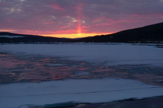 Solnedgång i Ligga