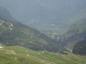View from the mountain down to the valley