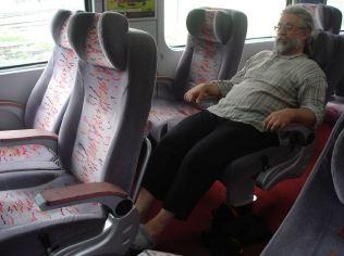 Me sitting in a class I train wagon