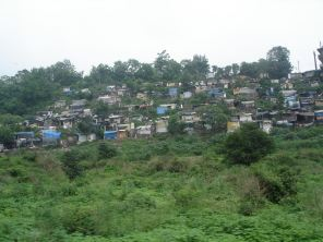 A shanty town from Shimla Toy Train