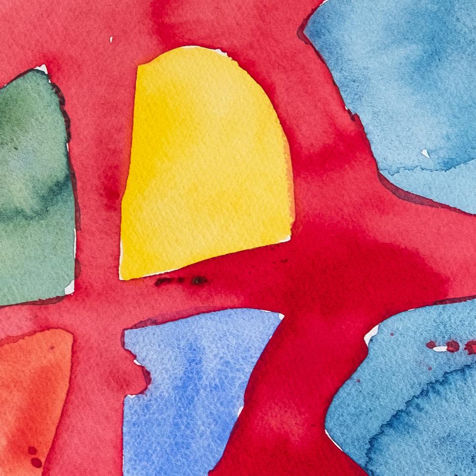 Akvarell. Del av solsymbol