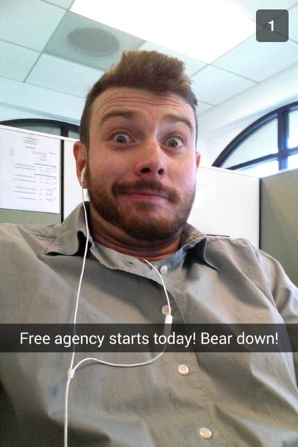 Start Snap Chattin' Your Free Agency Game Faces to Your Friends, It's on!