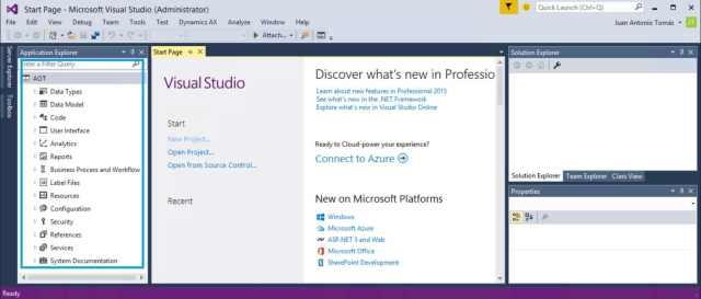 Visual Studio 2015 Microsoft Dynamics AX AX7