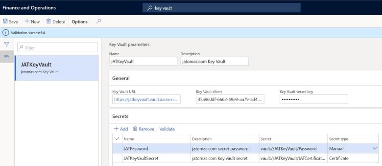 Configurar secreto manual en dynamics 365 finance