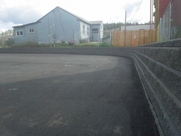 parking lot border and retaining