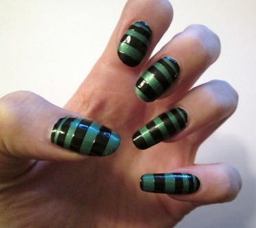 Green & Black Stripes