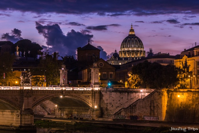 vatican-ponte-vittorio-emanuele-nightshot