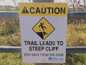 Steep Cliff Danger