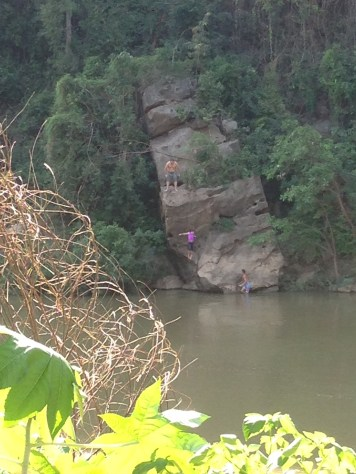 Cliff-jumping area for Jeff and the kids