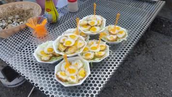 Fried quail eggs