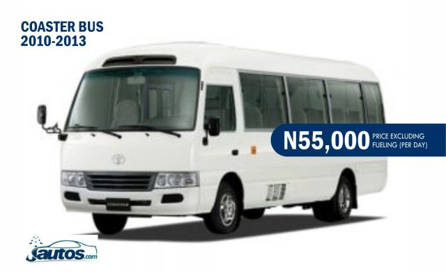 COASTER BUS 2010-2013- N70,000 (AMOUNT PER DAY WITHOUT FUELING