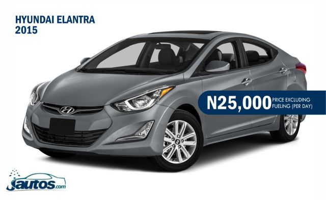Hyundai Elantra 2015- N20,000 (AMOUNT PER DAY WITHOUT FUELING)