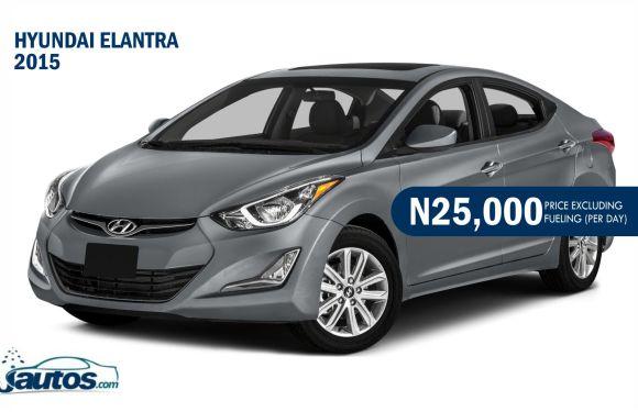 Hyundai Elantra 2015- N20,000 (AMOUNT PER DAY WITHOUT FUELING)