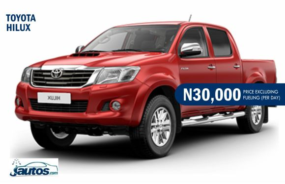 TOYOTA HILUX- N30,000 (AMOUNT PER DAY WITHOUT FUELING)