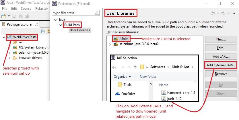 Junit user library