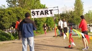 Harper McConnell, Women's 10K winner crosses the finish line