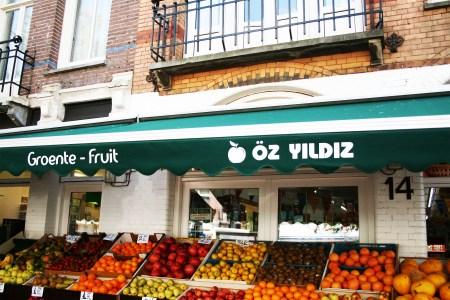 Gevel van Öz Yildiz in de Javastraat in het Javakwartier