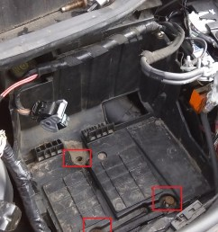 the fuse box will now carefully pull out into the battery tray space unclip the connectors on top you ll need to undo the bolt holding the three live feed  [ 2560 x 1440 Pixel ]
