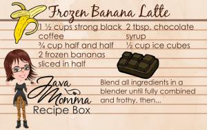 Frozen Banana Latte