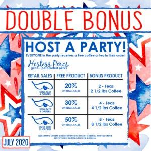 double host rewards July 2020 Java Momma