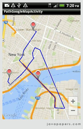 Google Maps Package Tracking : google, package, tracking, Google, Android, Javapapers
