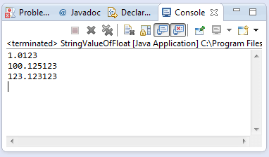 Java String valueOf(double d) method example
