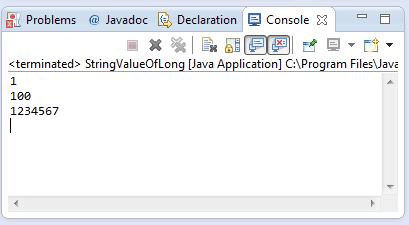 Java String valueOf(long l) method example