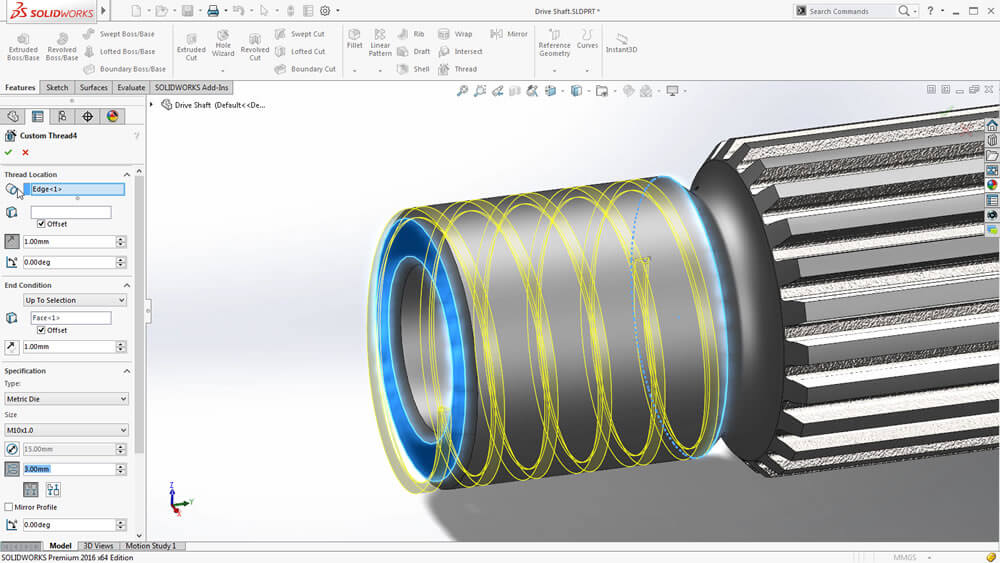 Top 3 Solidworks 2016 Part Features
