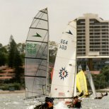 """Fat Boys Swim"", Brian Hennesey and Steve Watts (WA), winners of the Australian Title, 2nd in South Pacifics."