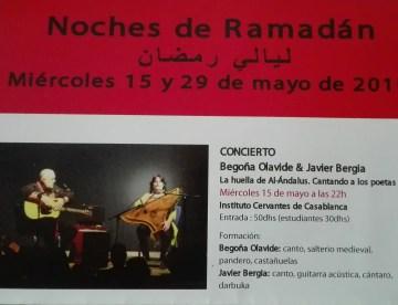 Noches de Ramadán – Instituto Cervantes – Casablanca – Marruecos