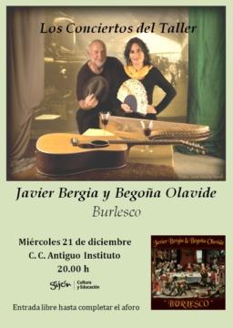 """""""De un Tiempo…Burlesco y otras Hierbas""""    Begoña Olavide &  Javier Bergia"""