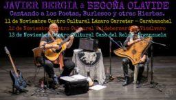 """Javier Bergia & Begoña Olavide  """"Cantando a los Poetas, Burlesco y otras Hierbas"""""""