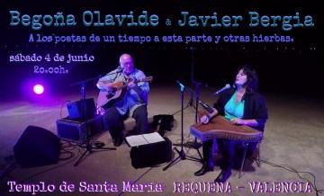 Javier Bergia & Begoña Olavide en concierto. A los Poetas y otras Hierbas.