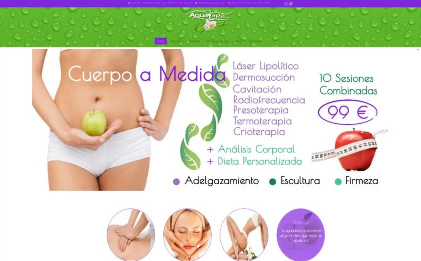 Diseño web para Spa en Valdemoro