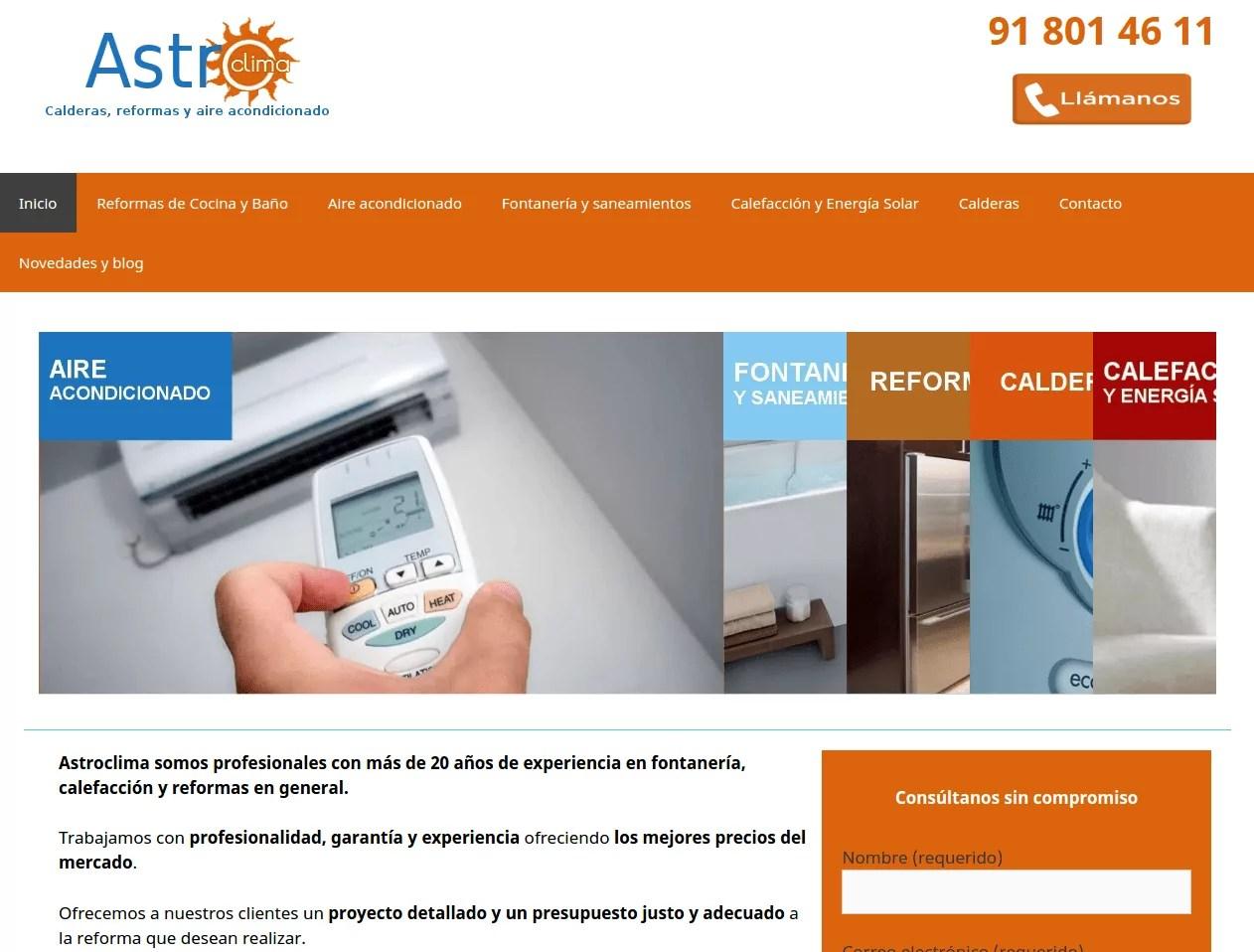 Diseño de página web para empresa de reformas