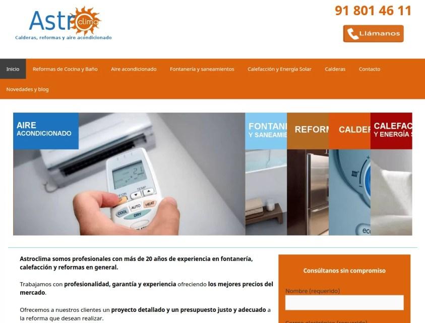 página web para empresa de reformas