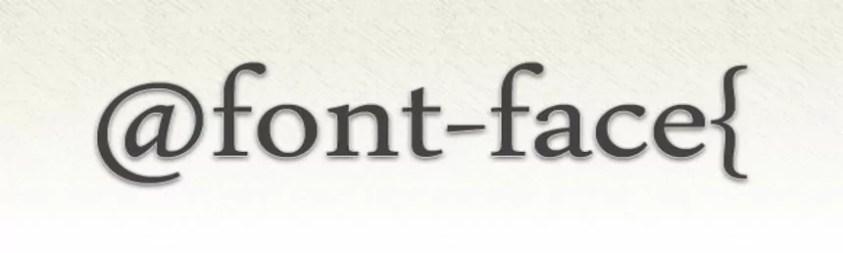 font-face logotipo
