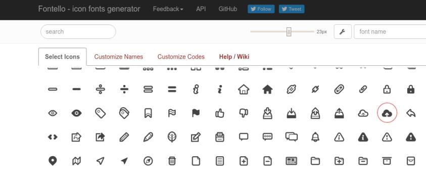 fontello generador de iconos