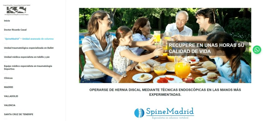Diseño web para equipo medico 3