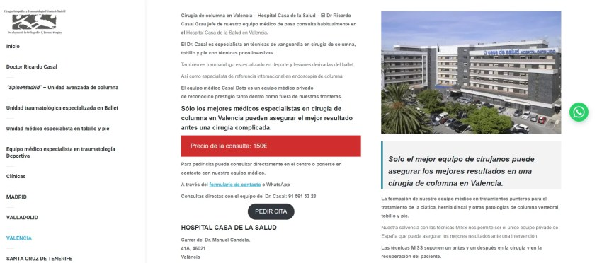 Diseño web para equipo medico 5