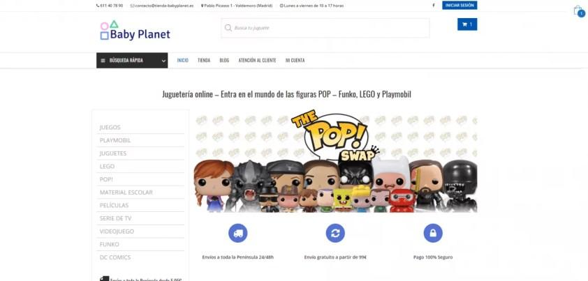 Diseño tienda online juguetería