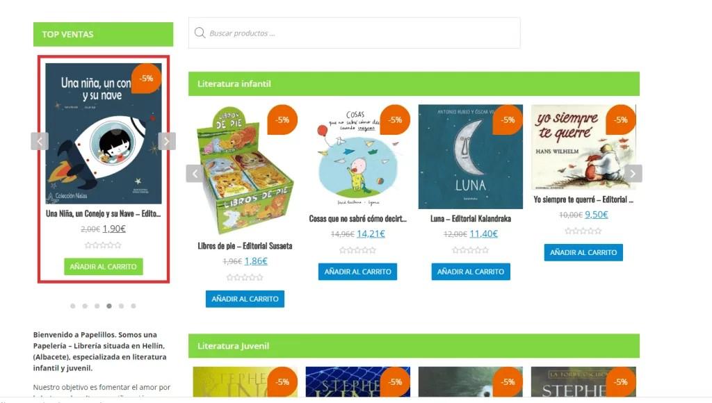 Diseño de tienda online para papelería