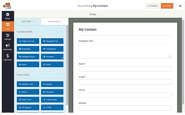 4 mejores Plugins de formularios de contacto en WordPress