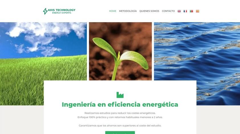 Diseño de web corporativa en Madrid Axys