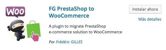 Migrar de PrestaShop a woocommerce Plugin